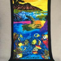 Quality Custom Ocean Hawaii Beach Towels 550g Yarn-Dyed Cutting Velvet Towels for sale
