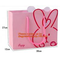 luxury Custom color shopping paper carrier bag hot sale, OPP PET PVC colorful wedding candy gift paper bag, BRAND LOGO