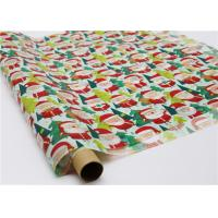 Quality Gifts Paper Printed Decorative Wax Paper Santa Claus Pattern One Side Coating for sale