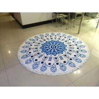 Quality Wholesale Large Custom Printed Round Beach Towel With Tassel, Circle Beach Towel for sale