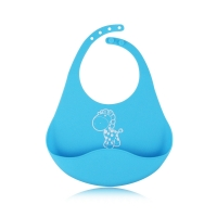 Quality Foldable Waterproof Silicone Bib Easily Wipes Clean Four Seasons Available for sale