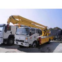 China Sinotruk Howo Aerial Lift Truck , 8 - 24 Meters Height Aerial Bucket Truck on sale