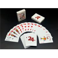 Quality Custom Printing Barcode 4 Color Playing Cards , Linen Finishing High End Playing Cards for sale