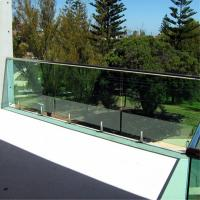 Buy cheap Balcony stainless steel spigots Mount Tempered glass Railing system from wholesalers
