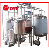 Quality 1500L Semi-Automatic Beer Microbrewery Equipment Steam Heating for sale