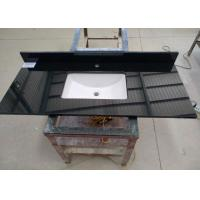 Quality Black Commercial Bathroom Countertops Durable With Squared Sink for sale