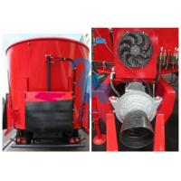 Quality Supersize Cattle Feed Mixer Truck , Supreme Livestock Feed Mixer With 8pcs Tyres for sale