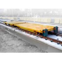 Quality Production line apply battery powered delivery electric flat car on rail for sale