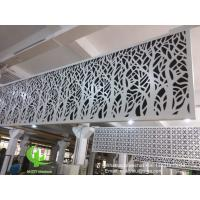 Quality hollow pattern 3mm aluminum cladding panel with powder coated for facade curtain wall solid panel single panel for sale