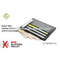 Quality Free Sample slim 100% Genuine Cowhide Leather Credit Card Holder for sale