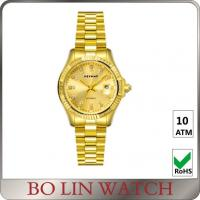 Quality Private Label Male 18K Solid Gold Watches For Men With Diamonds OEM / ODM for sale