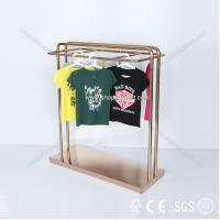 Quality 2014 new design custom metal wall garment display rack for clothing retail store for sale