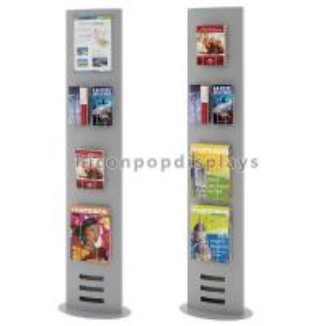 China Book Retail Store Flooring Display Stands Metal Newspaper Map Book Display Rack on sale
