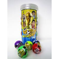 Quality The Word Cup Theme healthy hard candy / 6g multi fruit flavor football shape hard candy in jars for sale