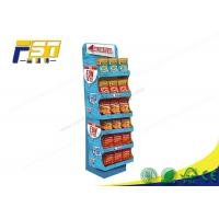 China Advertising Pop Cardboard Floor Displays Stand Large Load Bearing Capacity For Snacks on sale