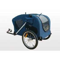 Buy PU coating waterproof 600D polyester fabric Bicycle Pet / Dog trailer at wholesale prices