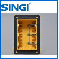 Buy Three gang plastic outlet boxes with covers , electrical outlet box at wholesale prices