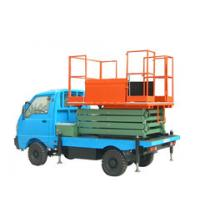 China 6M 450kg  Portable Pneumatic Truck Mounted Scissor Lift with Extension Platform on sale