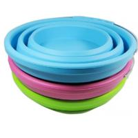 Quality FDA Silicone Rubber Products collapsible silicone bucket with handle camping tools for sale
