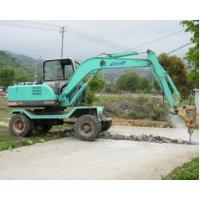 China good quality China manufacturered 4 wheel drive wheel excavator with breaker hammer on sale