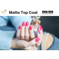 Quality Easy Soak Off  Nail Art Top Coat Uv Gel No Wipe Matte Type Good Saturation for sale