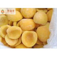 Quality Sanyo Typical Yellow Organic Frozen Peaches Fruit With BRC Certification for sale