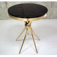 Quality Gold Plated Modern Coffee Table With Tempered Glass , Fully Assambled for sale
