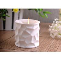 Quality Elegant 290ml white ceramic candle holder For Home Decoration for sale