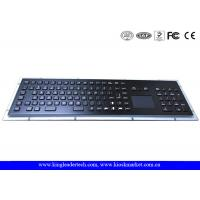 Quality IP65 Rated Black Metal Keyboard With Touch Pad,Function Keys And Number Keypad for sale