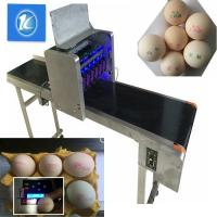 SGS Egg Stamping Equipment / Egg Printer Machine With 6 Head for sale