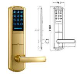 Quality High Security Zinc Alloy Door Handle Lock Smart Key Password intelligent Door Lock for sale