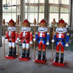 Quality Christmas Product Fiberglass Life Size Nutcracker Statues for sale