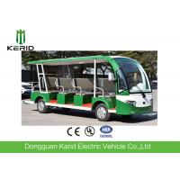 Quality CE Approved Open Top Sightseeing Car 72V AC System 15 Passenger Mini Bus 4 Wheel Electric Vehicle for sale