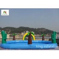 Quality Fire - Retardant Jungle Inflatable Elliptic Pool Ranibow For Outdoor for sale