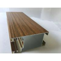 Quality Square Wood Finish Aluminium Profiles Extrusions For Led Strip Lighting Corrosion Resistance for sale