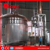 Quality stainless steel copper bubble cap high quality distillery equipment vodka distillery for sale
