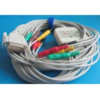 Buy cheap ECG Cable with 10 leadwires, Banana4.0, 15pins, compatible for Nihon Kohden EKG from wholesalers