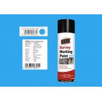 Quality ROHS Survey Marking Paint Jiefang Blue Color For Concrete 99 % Spray Rate for sale