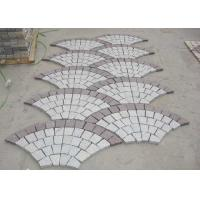 Quality Red Porphyry G603 Decorative Landscaping Stone Driveway Paving Stones Fan Shape for sale