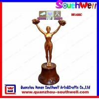 Quality cheerleader action trophy for sale