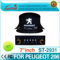 Quality 7 Inch TFT High Definition Touch Screen Peugeot DVD GPS Steering  Control For PEUGEOT 206 for sale