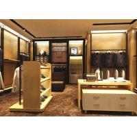 Buy Wood Grain Clothing Display Case Beige Coating Color For Men Suit Store at wholesale prices