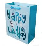 Quality Custom Embossed Paper Packaging Bag Grosgrain Handle for Christmas for sale