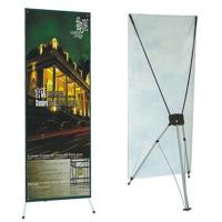 Quality Advertising  graphic banner stand Trade Show Display X Banner Stand With PVC Banner for sale