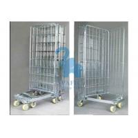 Buy Galvanized Wire Mesh Security Cage , Turn Over Type Rolling Security Cage at wholesale prices