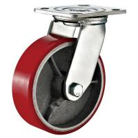 Buy cheap Red Heavy Duty Swivel Plate Caster Wheel / 6 Inch Caster Wheels Polyurethane On from wholesalers