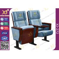 Quality Split Type Back Rest Auditorium Chair Plain Design With Sewing Logos for sale