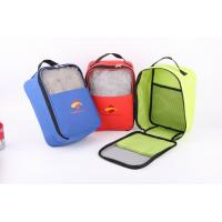 Quality 600D Polyester Shoes Bag With Mesh In Front for sale