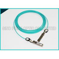 Buy 3.0mm 5 Meters Fiber Optic Multimode OM3 10G SFP+ Active Optical Aqua Cable at wholesale prices