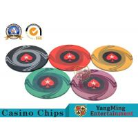 Quality Round Plastic Ceramic Blank Casino Poker Chips Sets , Colorful Polyspectra Chip for sale